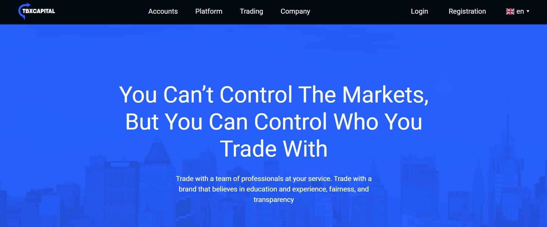 TBXCapital website
