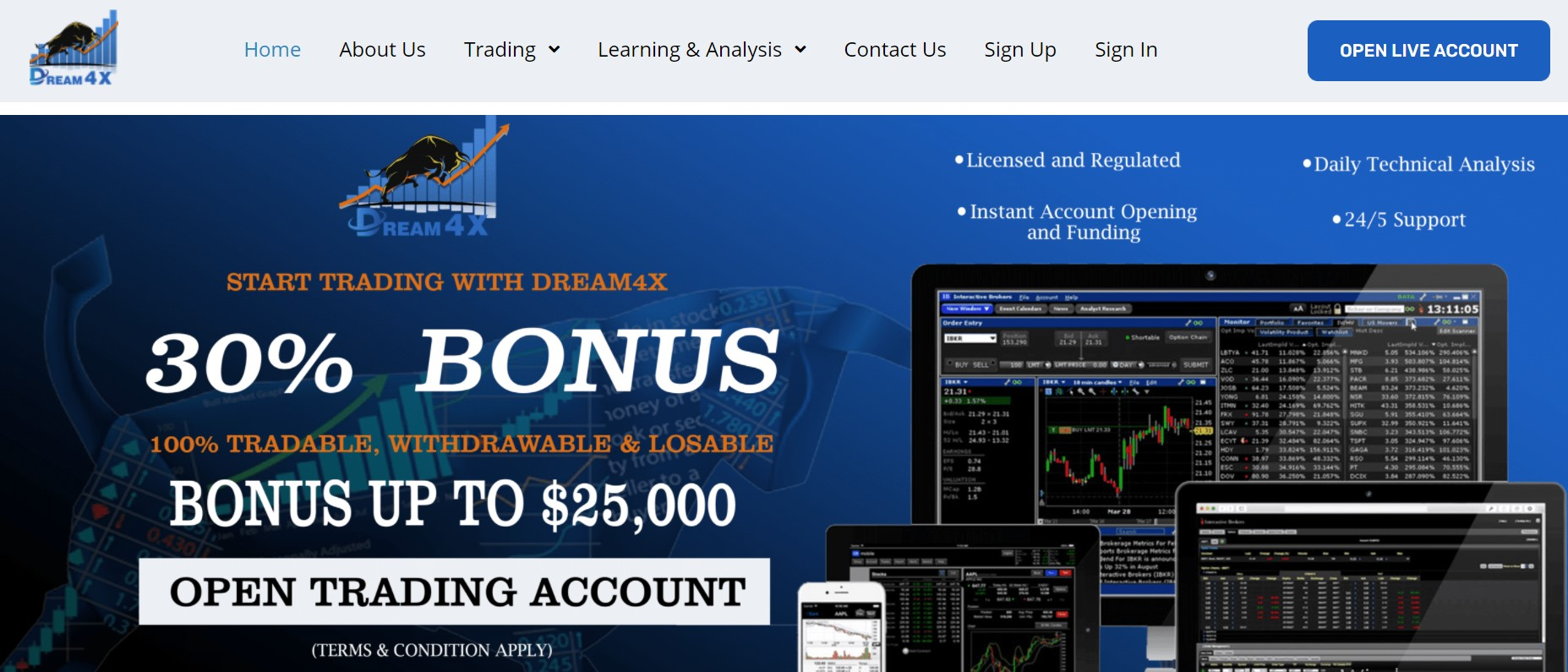 Dream4x website