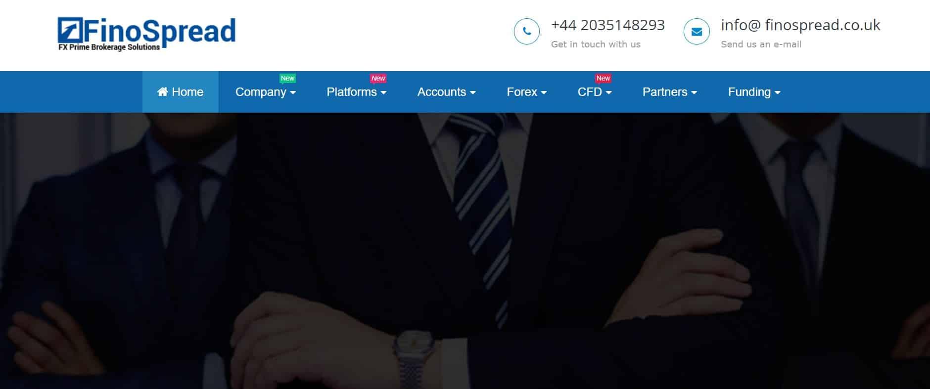 FinoSpread website