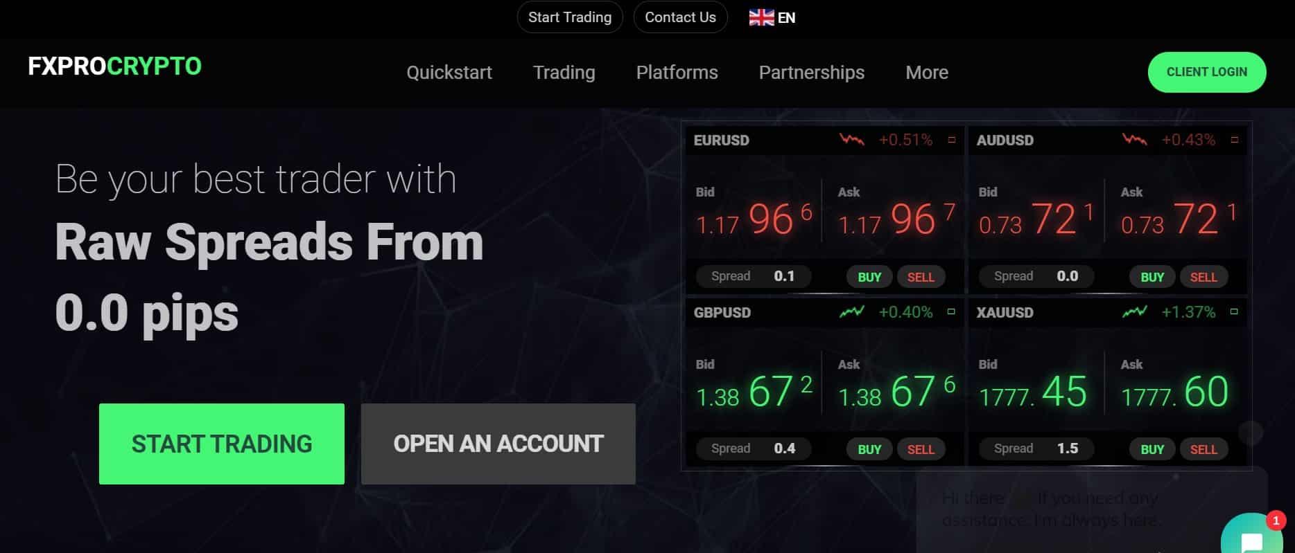 Fxprocrypto website