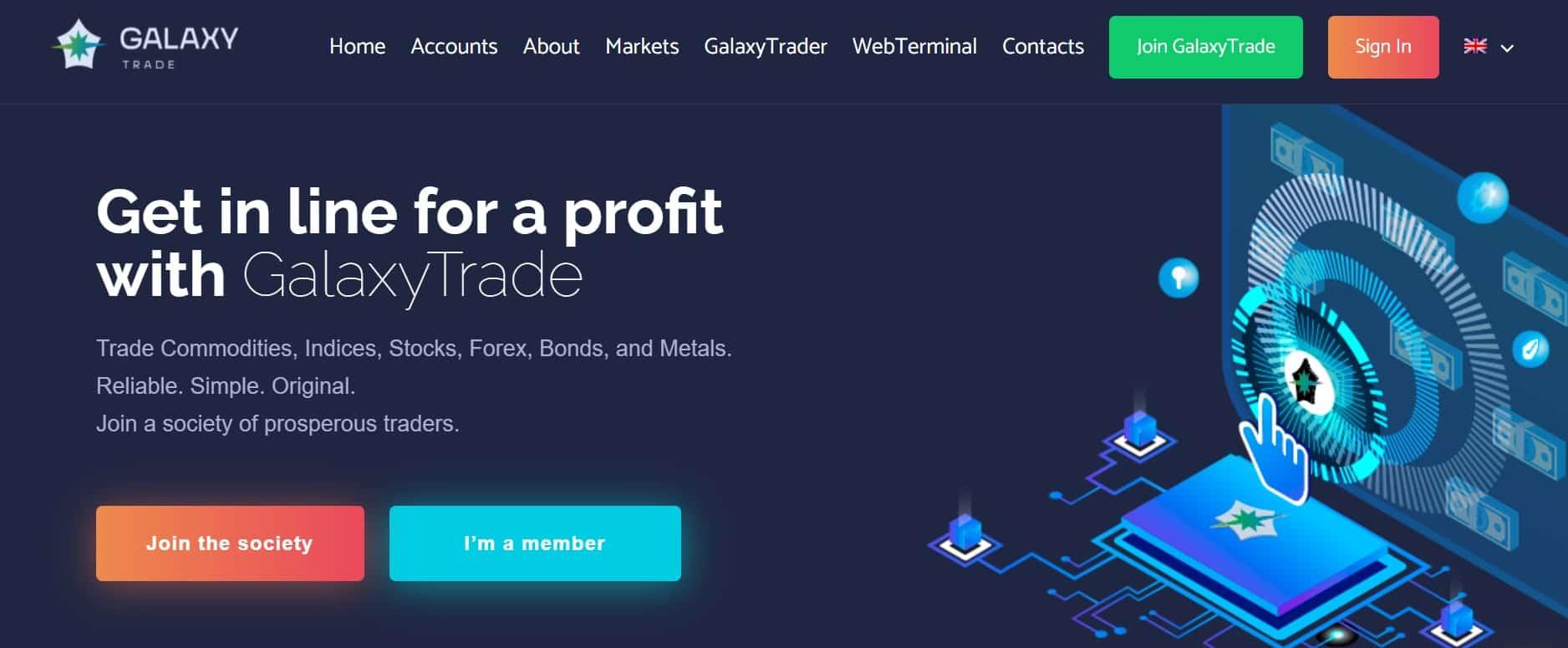 GalaxyTrade website