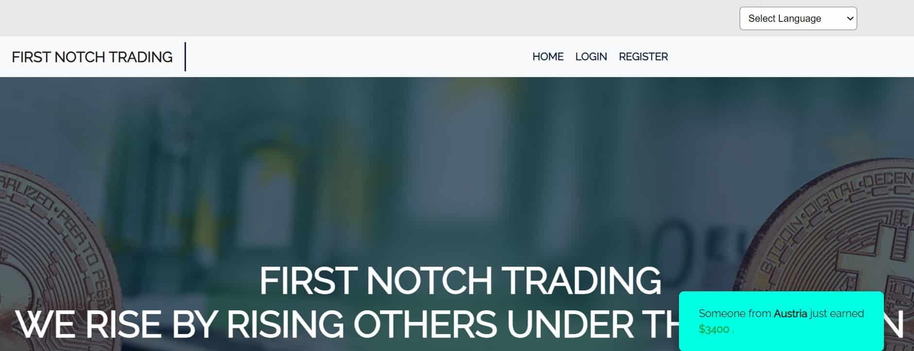 Firstnotch Trading website