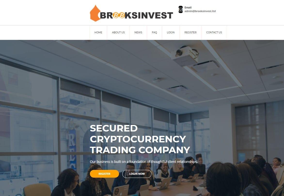 BrooksInvest website