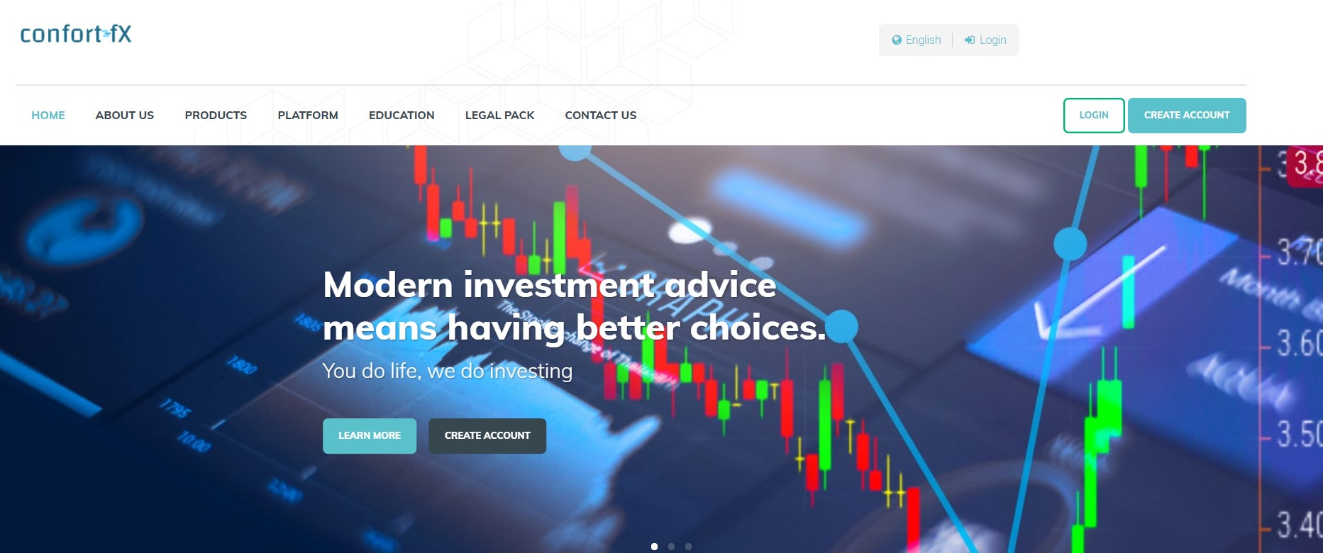 ConfortFX website