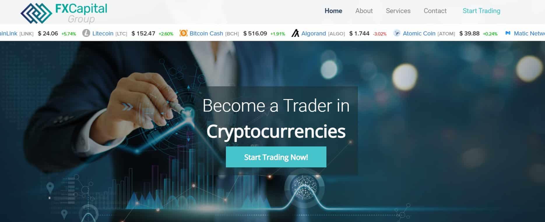 FxCapitalGroup website