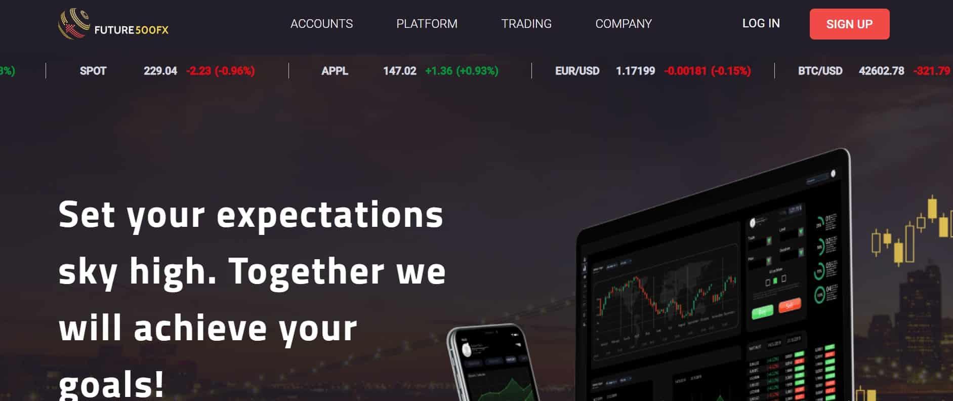 Future500FX website