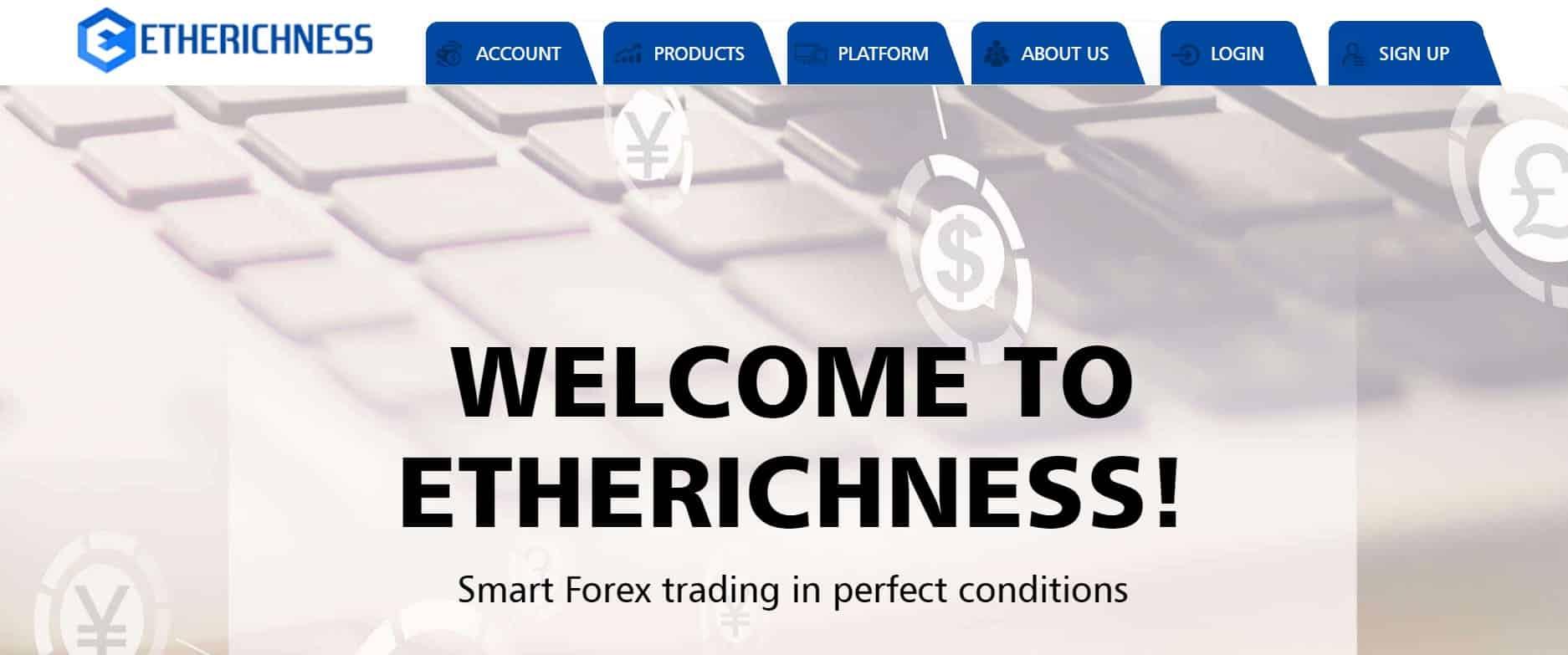 Etherichness website