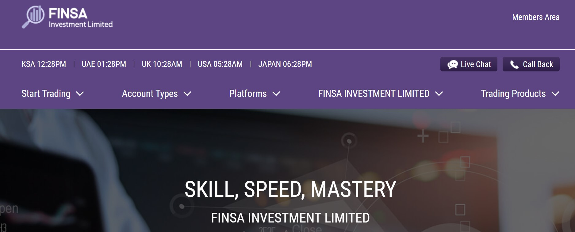 FINSA Investment Limited website