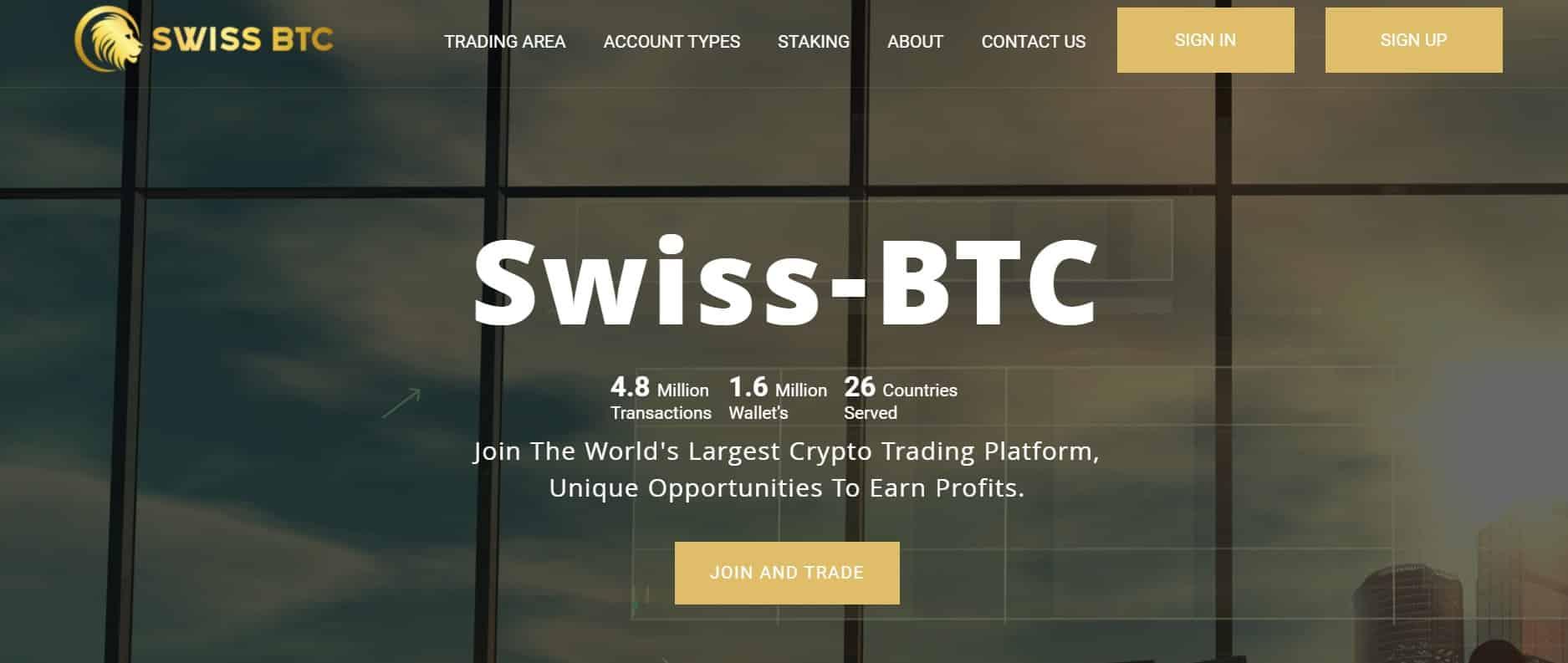 Swiss BTC website
