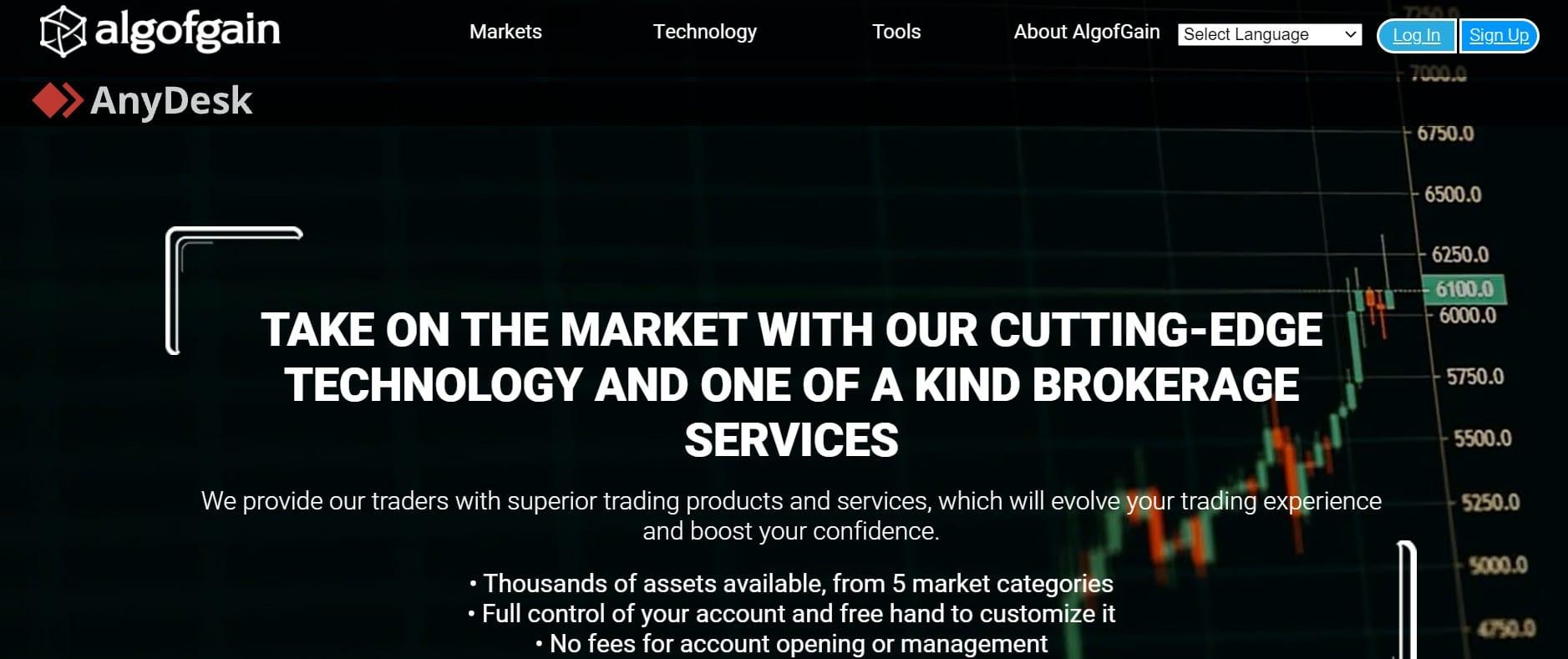 AlgofGain website